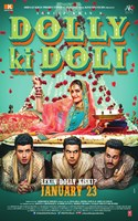 DOLLY KI DOLI, poster, top: Sonam Kapoor, bottom, from left: Varun Sharma, Rajkummar Rao, Pulkit Samrat, 2014. ©Arbaaz Khan Productions