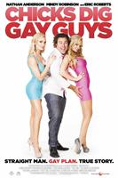 CHICKS DIG GAY GUYS, International poster art, Mindy Robinson (left and right), Nathan Anderson (center), 2013.
