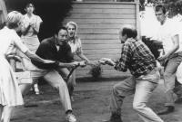 VALENTINO RETURNS, Frederic Forrest, Macon McCalman, 1989, (c)Skouras Pictures