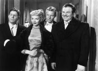 UNFAITHFULLY YOURS, Rudy Vallee, Barbara Lawrence, Kurt Kreuger, Lionel Stander, 1948, (c) 20th Century Fox, TM & Copyright