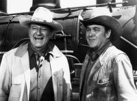 THE TRAIN ROBBERS, John Wayne, Ben Johnson, 1973