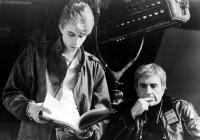 TRAIL OF THE PINK PANTHER, Writer Jeffrey Edwards and director Blake Edwards, on the set, 1982