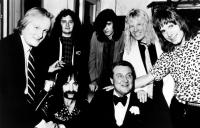 THIS IS SPINAL TAP, (background l-r): David Kaff, R.J. Parnell,  (foreground l-r): Tony Hendra, Harry Shearer, unknown, Michael McKean, Christopher Guest, 1984, (c)Embassy Pictures