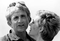 TEN, Julie Andrews and Husband, director Blake Edwards, between scenes, 1979