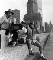TEMPEST, cinematographer Donald McAlpine (left), director Paul Mazursky (right) on set, 1982, (c) Columbia