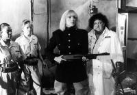 REFORM SCHOOL GIRLS, Sybil Danning (center), Pat Ast (r.), 1986, (c)New World Pictures