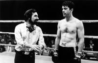 RAGING BULL, director Martin Scorsese, Robert DeNiro, 1980, on set
