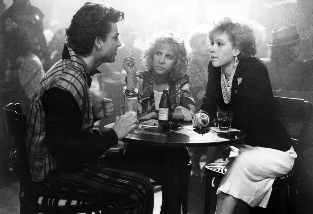 PRETTY IN PINK, Dweezil Zappa, Akexa Kenin, Molly Ringwald, 1986, (c) Paramount