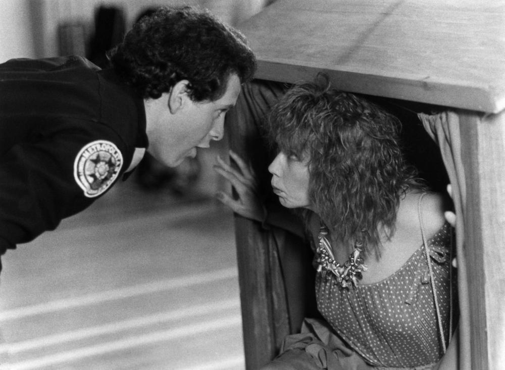 POLICE ACADEMY, Steve Guttenberg, Georgina Spelvin, 1984, (c) Warner Brothers