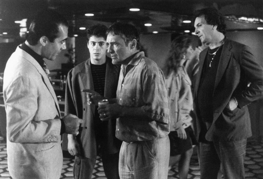 THE PICK-UP ARTIST, Tony Sirico, Robert Downey Jr., Dennis Hopper, Danny Aiello, 1987, TM and Copyright (c)20th Century Fox Film Corp. All rights reserved.