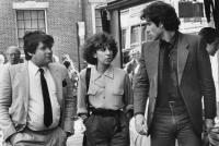 PERFECT, Jann Wenner, Anne De Salvo, John Travolta, 1985. ©Columbia Pictures