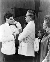 THE NUTTY PROFESSOR, foreground from left: Jerry Lewis, Del Moore, Kathleen Freeman, 1963