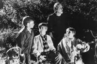 THE MONSTER SQUAD, Michael Faustino, Andre Gower, Tom Noonan, Brent Chalem, 1987. ©TriStar Pictures