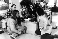 MANHATTAN MURDER MYSTERY, Ron Rifkin, Diane Keaton, Woody Allen, Anjelica Huston, Joy Behar, 1993. (c) TriStar Pictures.