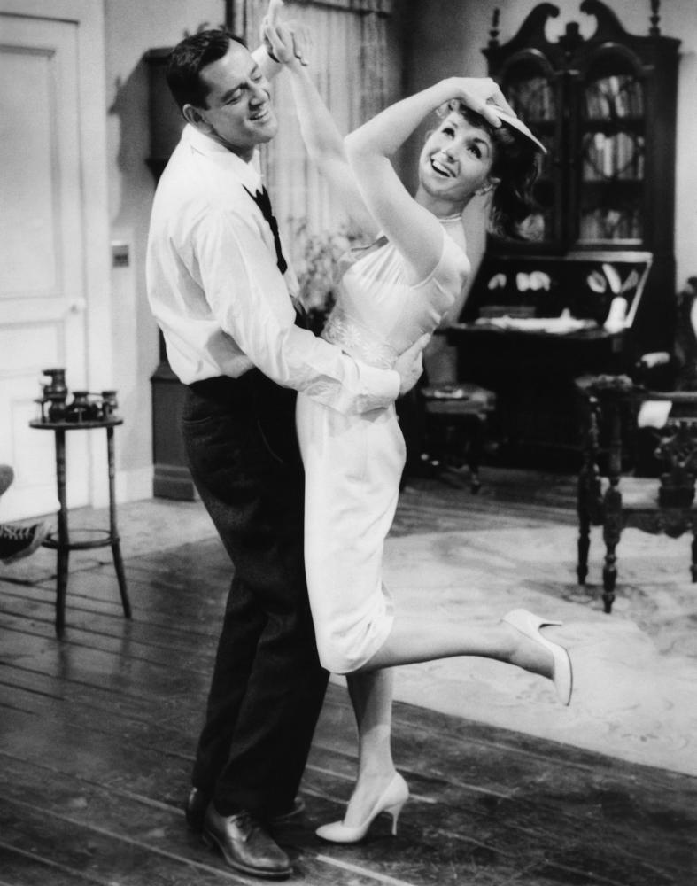 THE MATING GAME, from left, Tony Randall, Debbie Reynolds, 1959