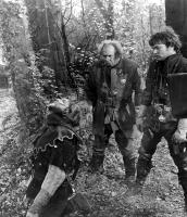 MACBETH, Banquo (Martin Shaw) is murdered by his assissins (Michael Balfour and Andrew McCulloch).1971.
