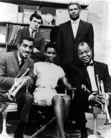 A MAN CALLED ADAM, Sammy Davis Jr., Frank Sinatra Jr., Cicely Tyson, Ossie Davis, Louis Armstrong, 1966