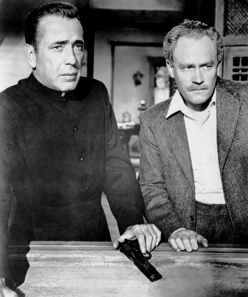 THE LEFT HAND OF GOD, from left, Humphrey Bogart, E.G. Marshall, 1955, TM and Copyright ©20th Century Fox Film Corp. All rights reserved.
