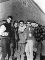 LET'S GET HARRY, (l-r): Rick Rossovich, Glenn Frey, Michael Schoeffling, Mark Harmon, Tom Wilson, 1986, (c)TriStar Pictures