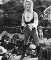 LABYRINTH, David Bowie, Toby Froud (baby in background), 1986, (c)TriStar Pictures