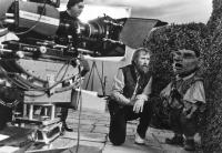 LABYRINTH, Jim Henson directing on set, 1986, (c)TriStar Pictures