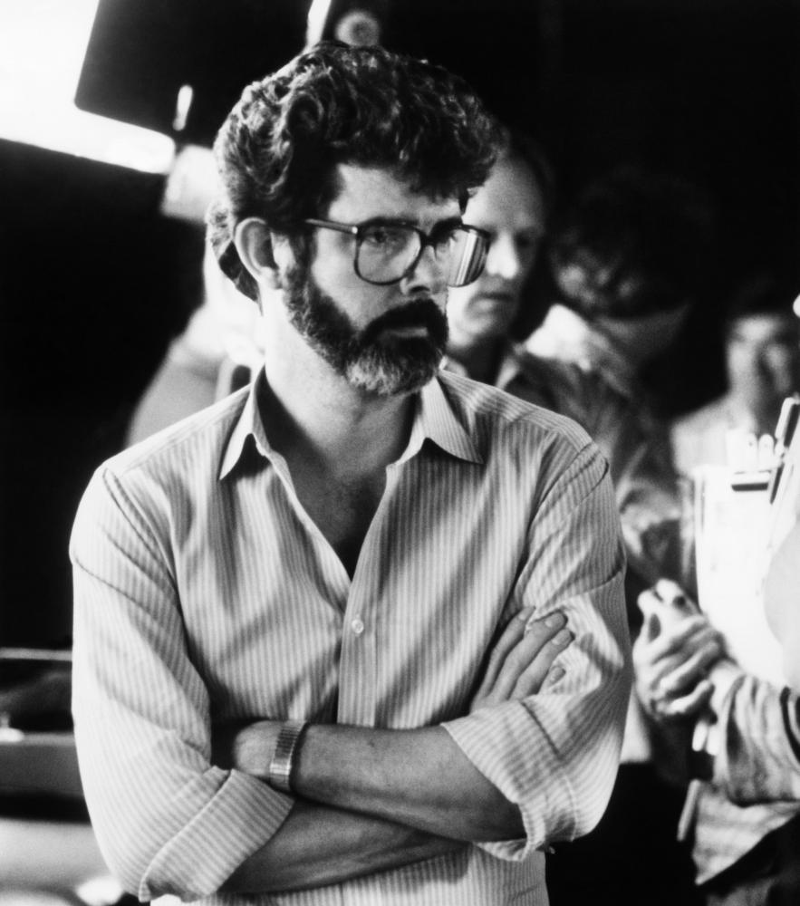 LABYRINTH, executive producer George Lucas, on-set, 1986, ©TriStar Pictures /