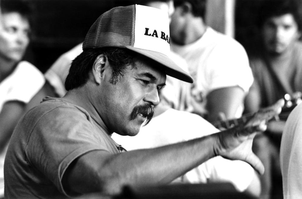 LA BAMBA, Writer and Director Luis Valdez, 1987. (c) Columbia Pictures.
