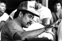 LA BAMBA, Writer and Director Luis Valdez, 1987. (c) Columbia Pictures.