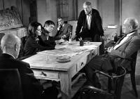 THE KREMLIN LETTER, Richard Boone (standing), Dean Jagger, Barbara Parkins, Patrick O'Neal, Nigel Green, George Sanders, 1970