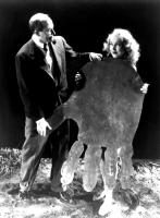 KING KONG, Merian C. Cooper, Fay Wray, holding model cut out of King Kong`s hand, 1933