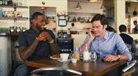 TRAINWRECK, from left: LeBron James, Bill Hader, 2015./©Universal Pictures