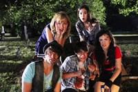 DEAD BEFORE DAWN 3D, from left: Tim Doiron, Brittany Allen (top), Devon Bostick, Martha MacIsaac (top), April Mullen, 2012. ©Gaiam Vivendi Entertainment