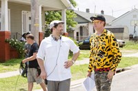 GET HARD, from left: director Etan Cohen, Will Ferrell, on set, 2015. ph: Patti Perret/©Warner Bros. Pictures