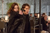 MISSION: IMPOSSIBLE - ROGUE NATION, from left: Rebecca Ferguson, Tom Cruise, 2015. ph: Chiabella James/© Paramount Pictures