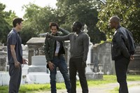 AMERICAN HEIST, from left: Hayden Christensen, Adrien Brody, Akon, Tory Kittles, 2015. ph: Michele K. Short/© Lionsgate