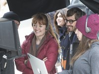 THE DIARY OF A TEENAGE GIRL, left: director Marielle Heller on set, 2015. ph: Sam Emerson/©Sony Pictures Classics