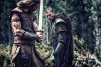 NORTHMEN - A VIKING SAGA, from left: Tom Hopper, Ed Skrein, 2014. ph: Casey Crafford/©Anchor Bay