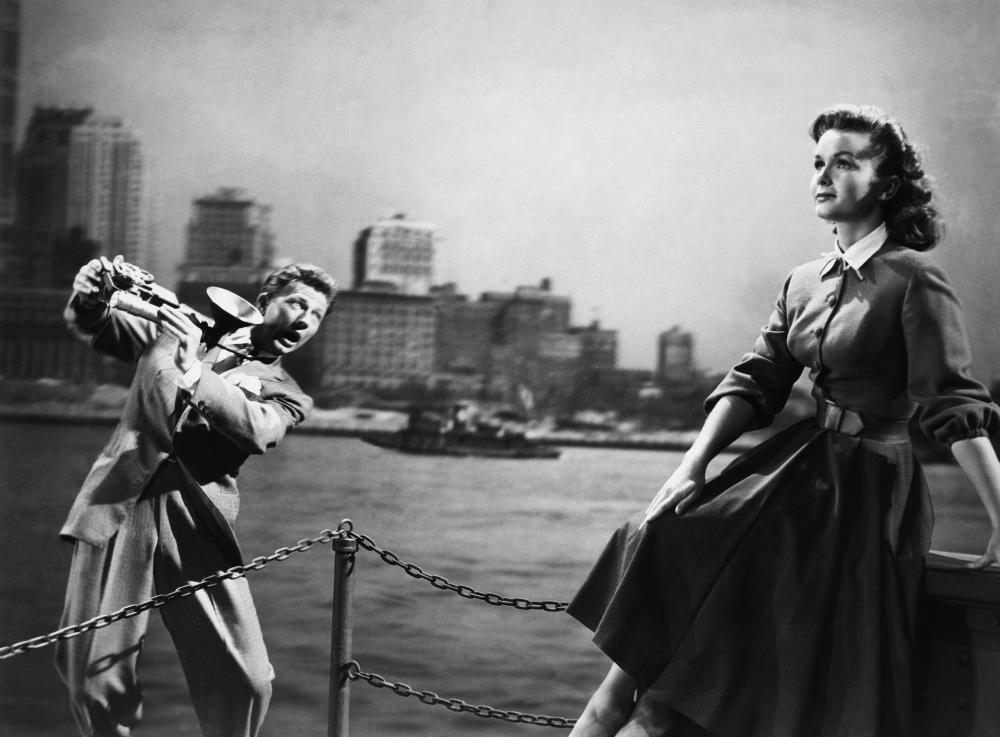 I LOVE MELVIN, from left: Donald O'Connor, Debbie Reynolds, 1953