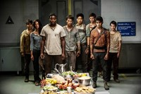 MAZE RUNNER: THE SCORCH TRIALS, from left: Gary Hood, Kaya Scodelario, Dexter Darden, Dylan O'Brien, Ki Hong Lee, Thomas Brodie-Sangster, Alexander Flores, Bryce Romero, 2015. ph: Richard Foreman Jr./TM and Copyright ©20th Century Fox Film Corp. All rights reserved.