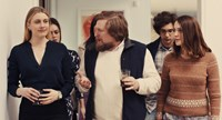 MISTRESS AMERICA, from left: Greta Gerwig, Heather Lind, Michael Chernus, Matthew Shear, Lola Kirke, 2015. TM and copyright ©Fox Searchlight Pictures. All rights reserved.