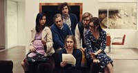 MISTRESS AMERICA, from left: Cindy Cheung, Dean Wareham, Matthew Shear, Greta Gerwig, Michael Chernus, Heather Lind, 2015. TM and copyright ©Fox Searchlight Pictures. All rights reserved.