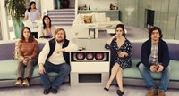 MISTRESS AMERICA, Lola Kirke (left), Cindy Cheung (back right), Michael Chernus (beard), Heather Lind (hand on chin), Matthew Shear (right), 2015. TM and copyright ©Fox Searchlight Pictures. All rights reserved.