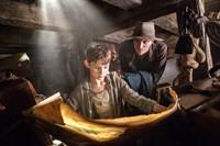PAN, from left: Levi Miller as Peter Pan, Garrett Hedlund as Hook, 2015. ph: Laurie Sparham/© Warner Bros. Pictures