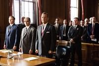 BRIDGE OF SPIES, from left: Billy Magnussen, Mark Rylance, Tom Hanks, 2015. ph: Jaap Buitendijk/©Walt Disney Studios Motion Pictures