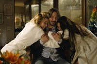 KNOCK KNOCK, from left: Ana de Armas, Keanu Reeves, Lorenza Izzo, 2014. ph: Eduardo Moreno/© Lionsgate Premiere