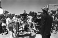 HEALTH, Lauren Bacall, director Robert Altman (in white cap) on set, 1980, TM & Copyright (c) 20th Century Fox Film Corp.