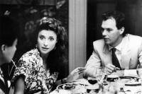 GUNG HO, Mimi Rogers, Michael Keaton, 1986. ©Paramount
