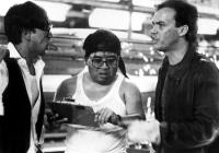 GUNG HO, Gedde Watanabe, Rodney Kageyama, Michael Keaton, 1986. ©Paramount