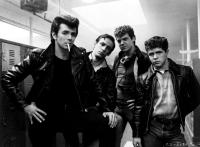 GREASE 2, (l-r): Adrian Zmed, Peter Frechette, Christopher McDonald, Leif Green, 1982, (c)Paramount