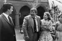 GOING BERSERK, Joe Flaherty, John Candy, Alley Mills, Ann Bronston, 1983. ©Universal